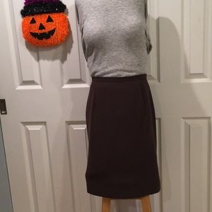 Dress Barn Sz 4 Chestnut Brown Skirt